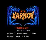 Karnov NES Japan Title screen