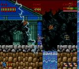 Super Turrican SNES This lightning bolt can cause serious problems to the player at the jumping moment. Leave it disappear first to jump!