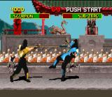 Mortal Kombat SNES The classical Scorpion's harpoon.