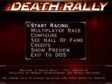 Death Rally DOS Main menu