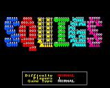 Squigs Amiga The title screen