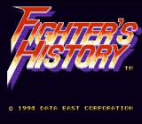 Fighter's History SNES Title screen