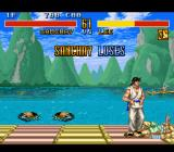 Fighter's History SNES Round lost