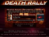 Death Rally DOS Pre-game character generation