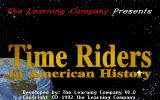 Time Riders in American History DOS Title screen