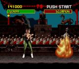 Mortal Kombat SNES Sonia's Fatality: Kiss of Death.
