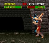 Mortal Kombat SNES Goro in action.