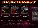 Death Rally DOS Choose racing level