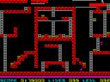 Lode Runner ZX Spectrum It's not possible dig a hole on solid platform