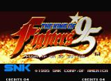 The King of Fighters '95 Neo Geo Title screen.