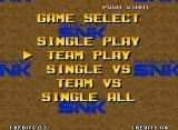 The King of Fighters '95 Neo Geo Selecting GAME START, you'll have access these game modes. This menu is easy to understand...