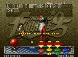 The King of Fighters '95 Neo Geo Mode selected, watch (if you want) a brief lesson of how to play.