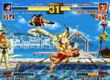 The King of Fighters '95 Neo Geo Robert has one excellent aerial move!