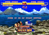 Samurai Shodown Neo Geo If you are not fighting, watch the demonstration...