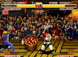 Samurai Shodown Neo Geo Galford obtains success defending this attack. Somebody wants apple?