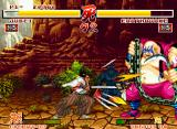Samurai Shodown Neo Geo Pressing the A button quickly, Jubei will make fast hits with the sword.