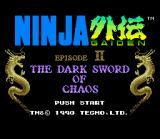 Ninja Gaiden Trilogy SNES Ninja Gaiden II title screen.