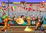 The King of Fighters '94 Neo Geo Ryo Sakazaki's Ko Ou Ken meets Terry Bogard's Power Wave...