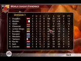 Rugby 2005 Windows World League tournament table.