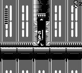 Star Wars Game Boy Luke Skywalker, with the lightsaber, cruising the Death Star elevators.