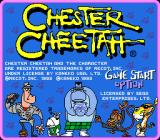 Chester Cheetah: Too Cool to Fool Genesis Title screen