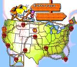 Chester Cheetah: Wild Wild Quest SNES USA map