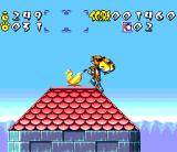 Chester Cheetah: Wild Wild Quest SNES Cheetah on the roof!