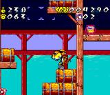 Chester Cheetah: Wild Wild Quest SNES Lots of barrels here...