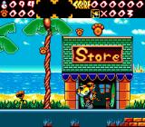 Chester Cheetah: Wild Wild Quest Genesis In front of a store