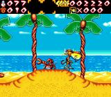 Chester Cheetah: Wild Wild Quest Genesis On a beach, avoiding crabs
