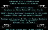 The Computer Edition of Risk: The World Conquest Game DOS Credits Loading Screen