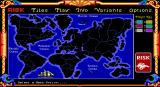 The Computer Edition of Risk: The World Conquest Game DOS Game screen, no game in progress