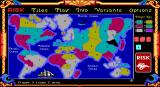 The Computer Edition of Risk: The World Conquest Game DOS Game in Progress