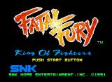 Fatal Fury Neo Geo Title screen.