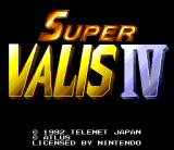 Super Valis IV SNES Title screen