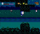 Doraemon 4: Nobita to Tsuki no Ōkoku SNES A weird level. Doraemon doesn't quite understand where he is