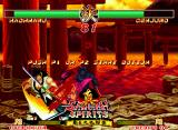 Samurai Shodown II Neo Geo Demonstration mode: Genjuro's sword claims for blood, VERY blood!