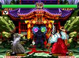 Samurai Shodown II Neo Geo Stop and join this elements: a nice (but very suspected) girl, a mystical place and the sky blinking frenetically. What this suggests?