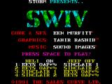 S.W.I.V. ZX Spectrum Options+Credits screen