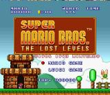 Super Mario All-Stars + Super Mario World SNES Super Mario Bros. - The Lost Levels title screen