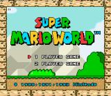 Super Mario All-Stars + Super Mario World SNES Super Mario World title screen.
