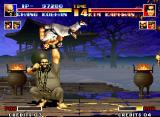 The King of Fighters '94 Neo Geo Chang treats the opponent like a marionette, hurling them at all sides. Total humiliation!