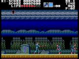 Vampire: Master of Darkness SEGA Master System On a cemetery fighting zombies with a ... pointed stick?