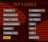 BreakThru! SNES Options