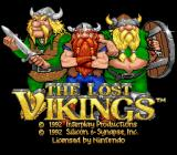 The Lost Vikings SNES Title screen