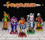 The King of Dragons SNES Player select screen