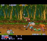 The King of Dragons SNES The dwarf fighting some orcs