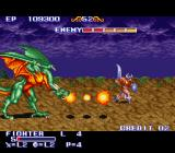 The King of Dragons SNES Fighter vs. dragon