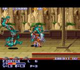 The King of Dragons SNES Blocking an attack - you can either block manually or set it to auto.