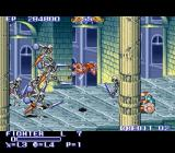 The King of Dragons SNES The fighter killed by a horde of skeletons.